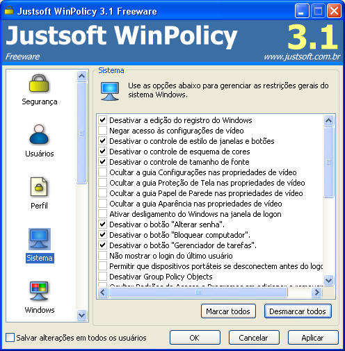 justsoft winpolicy password remover